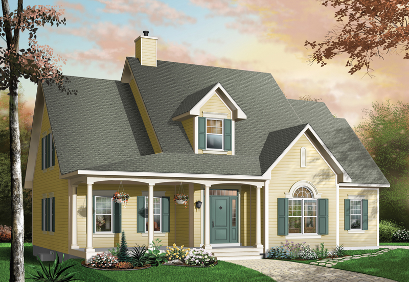 Bungalow House Plan Front Image - 032D-0232 | House Plans and More