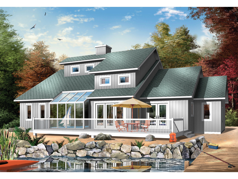 Two-Story House Suited For Waterfront Location