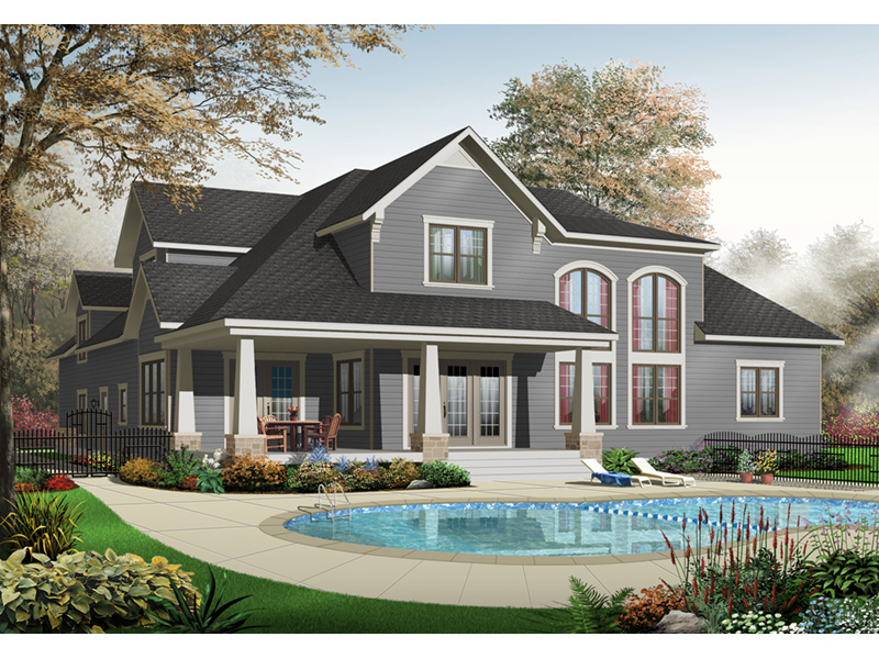 Traditional House Plan Front Photo 01 - 032D-0241 | House Plans and More