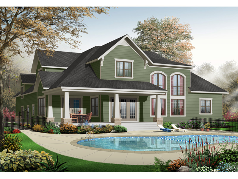 Bungalow House Plan Front Photo 03 - 032D-0241 | House Plans and More