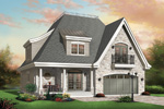 Contemporary House Plan Front Photo 01 - 032D-0250 | House Plans and More
