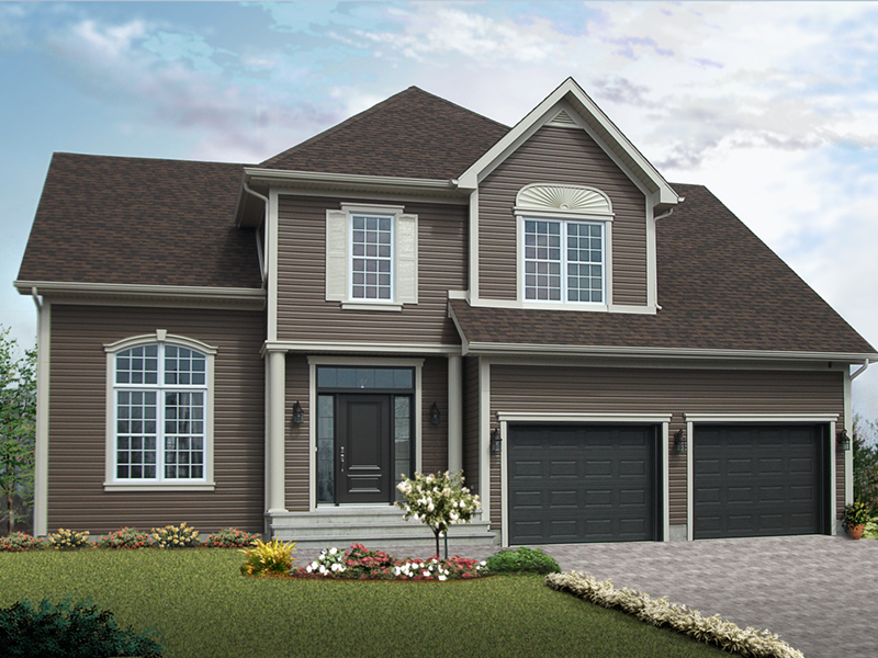 Traditional House Plan Front of Home 032D-0251