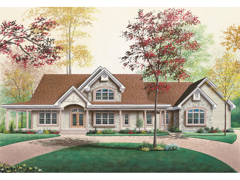 Stylish Arts & Crafts Home Showcases Stone Accents