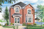 Two-Story Narrow Lot Design With Charming Accents