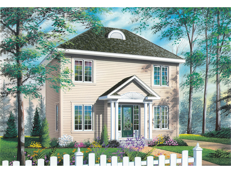 Colonial House Plan Front Image - 032D-0270 | House Plans and More
