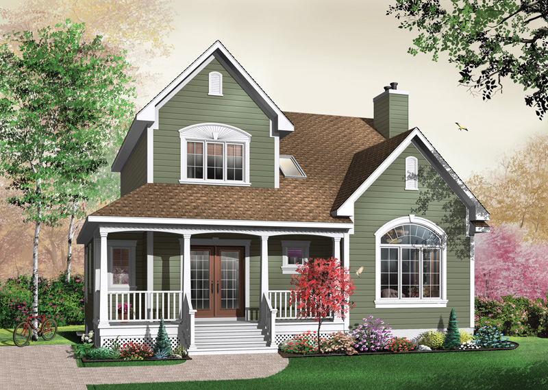 Craftsman House Plan Front Photo 01 - 032D-0283 | House Plans and More