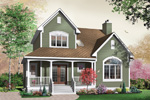 Arts and Crafts House Plan Front Photo 01 - 032D-0283 | House Plans and More