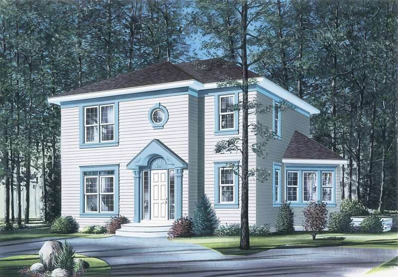 Modern House Plan Front Photo 01 - 032D-0286 | House Plans and More