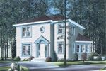 Contemporary House Plan Front Photo 01 - 032D-0286 | House Plans and More