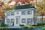 Stone Covered Colonial House Has Antique Custom Feel
