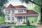 Victorian Style House Has Attractive Carport Design
