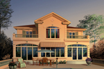 Large Windows Cover This Stucco Florida House With Second Floor Balcony
