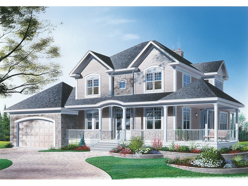 Arts and Crafts House Plan Front Image 032D-0310