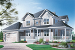 Modern House Plan Front Image - 032D-0310 | House Plans and More