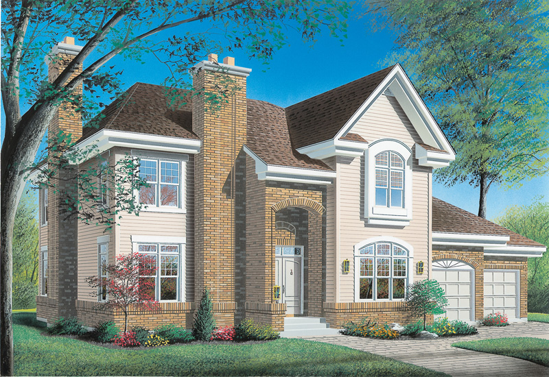 Traditional Home Includes Brick Details For Added Character