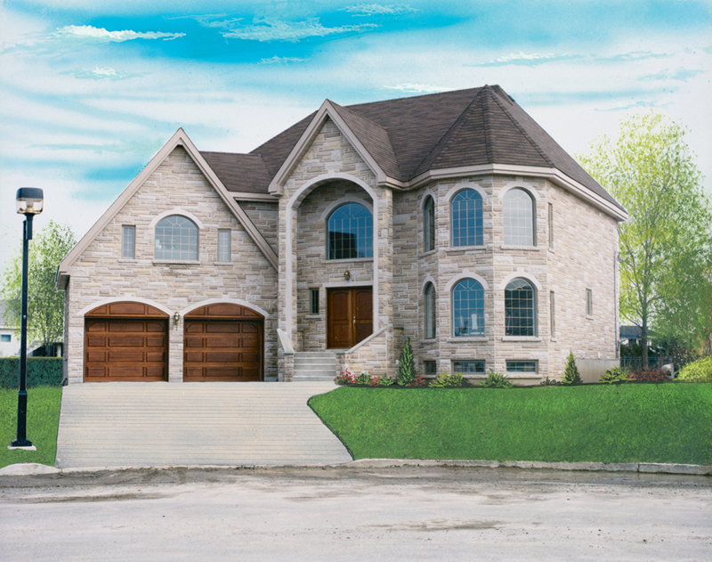 European House Plan Front of Home 032D-0325