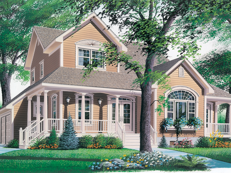 Southern House Plan Front Photo 01 032D-0341