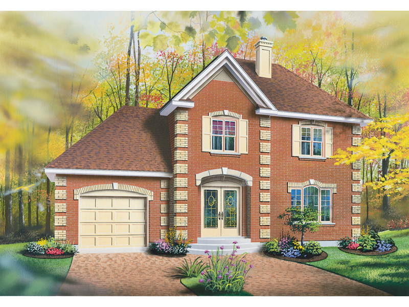 Colonial House Plan Front Image - 032D-0347 | House Plans and More