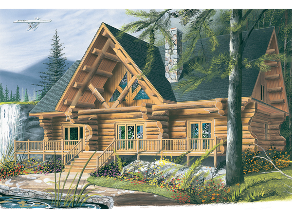 Spencer hill luxury log home plan 032d 0352 house plans for Large luxury log homes