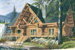 A Large Front Porch Invites Guests Into This Luxury Log House