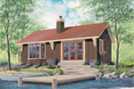 Vacation House Plan Front Image - 032D-0357 | House Plans and More