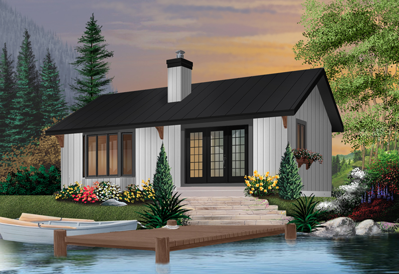 Rustic Style Cottage Is Perfect For A Lakeside Setting