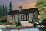 Vacation House Plan Front Photo 01 - 032D-0357 | House Plans and More