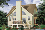 Waterfront Home Plan Front Photo 01 - 032D-0358 | House Plans and More