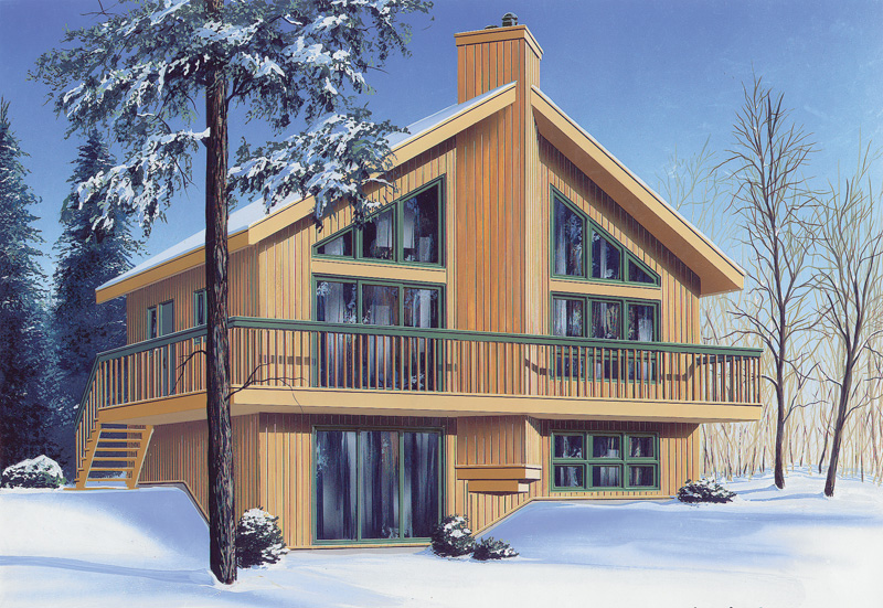 Mountain Home Plan Front Photo 01 032D-0363