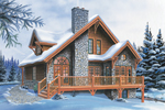 Cabin and Cottage Plan Front Image - 032D-0368 | House Plans and More