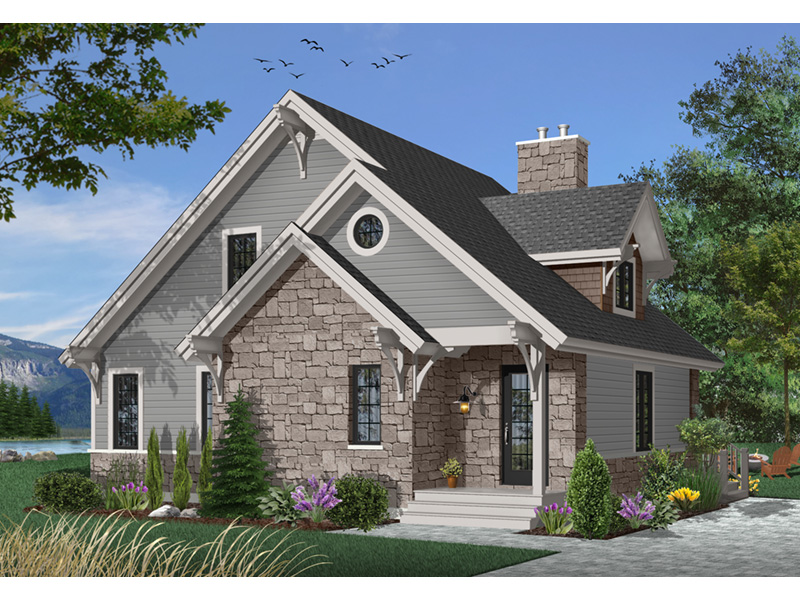 Rustic Home Plan Front Photo 03 - 032D-0368 | House Plans and More