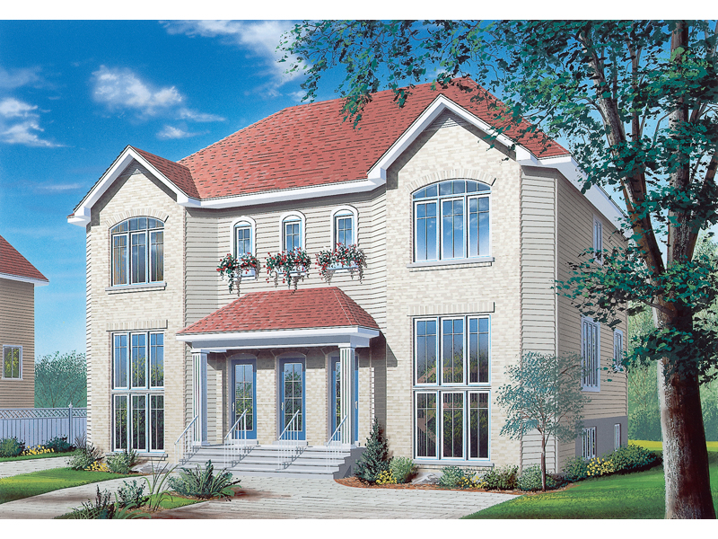 Traditional House Plan Front of Home 032D-0377