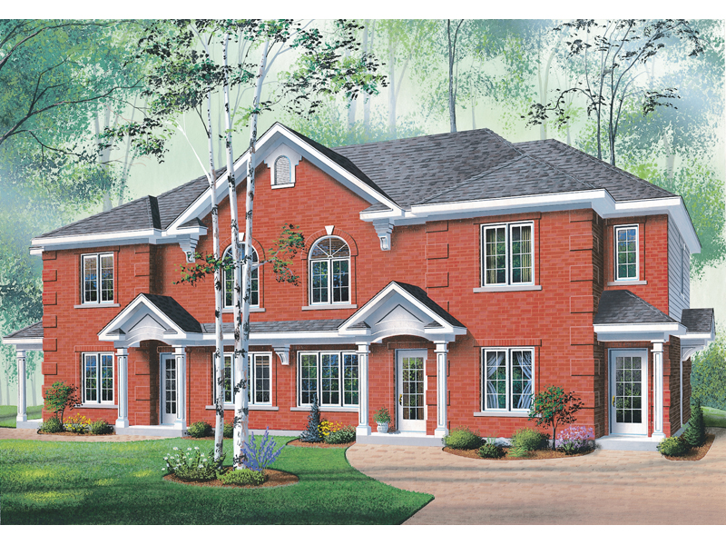 Multi-Family House Plan Front of Home 032D-0380