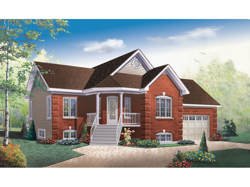 Ranch Home Has A Stylish Angled Front Porch
