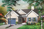 Ranch House Plan Front Image - 032D-0391 | House Plans and More