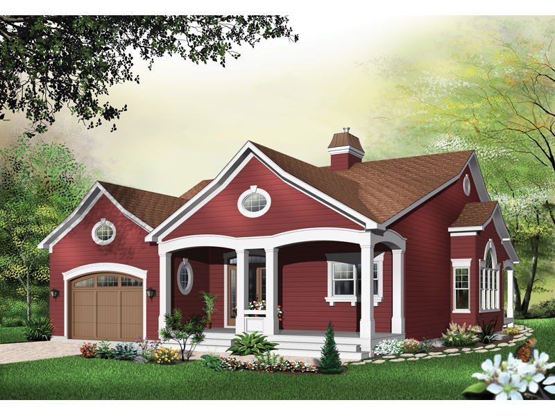 Arts & Crafts House Plan Front of Home - 032D-0397 | House Plans and More