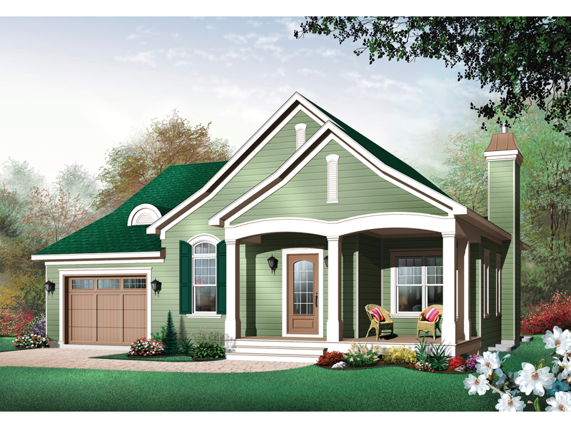 Traditional House Plan Front Image - 032D-0398 | House Plans and More