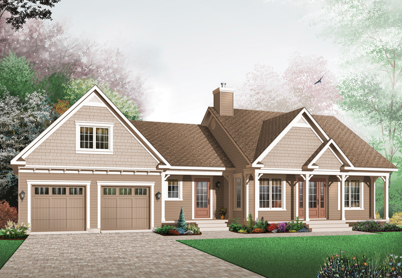 Ranch House Plan Front Image - 032D-0403 | House Plans and More