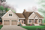 Arts and Crafts House Plan Front Image - 032D-0403 | House Plans and More