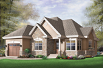 Ranch House Plan Front of Home - 032D-0405 | House Plans and More
