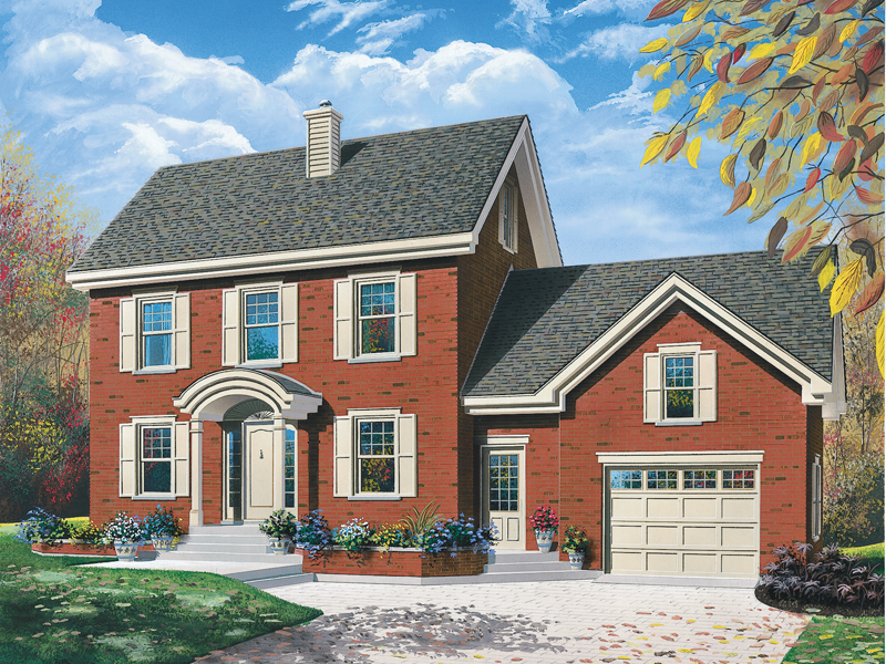Brick Siding Outfits This Symmetrically Pleasing Colonial Home
