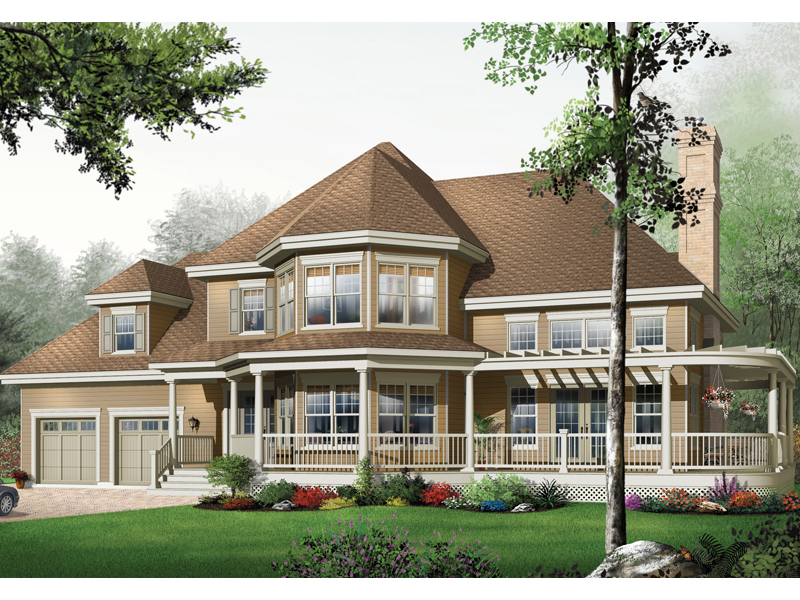 Sprawling Country Style Home With Wrap-Around Porch
