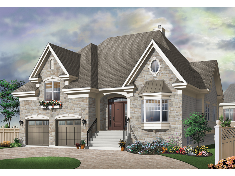 Traditional House Plan Front of Home - 032D-0449 | House Plans and More