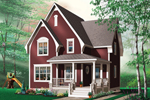 Victorian House Plan Front Photo 01 - 032D-0453 | House Plans and More