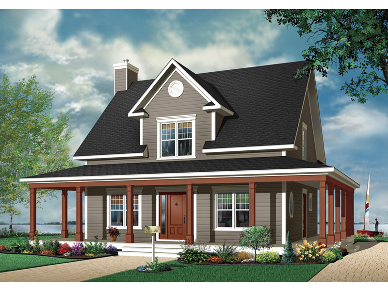 Farmhouse Plan Front Photo 03 - 032D-0455 | House Plans and More