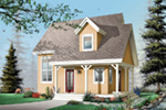 Saltbox House Plan Front Image - 032D-0456 | House Plans and More
