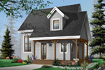 Saltbox House Plan Front Photo 01 - 032D-0456 | House Plans and More