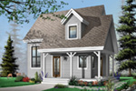 Saltbox House Plan Front Photo 02 - 032D-0456 | House Plans and More