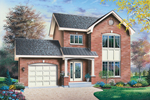 Two-Story Traditional Home Features Lovely Window Accents
