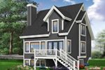 Traditional House Plan Rear Photo 01 - 032D-0466 | House Plans and More